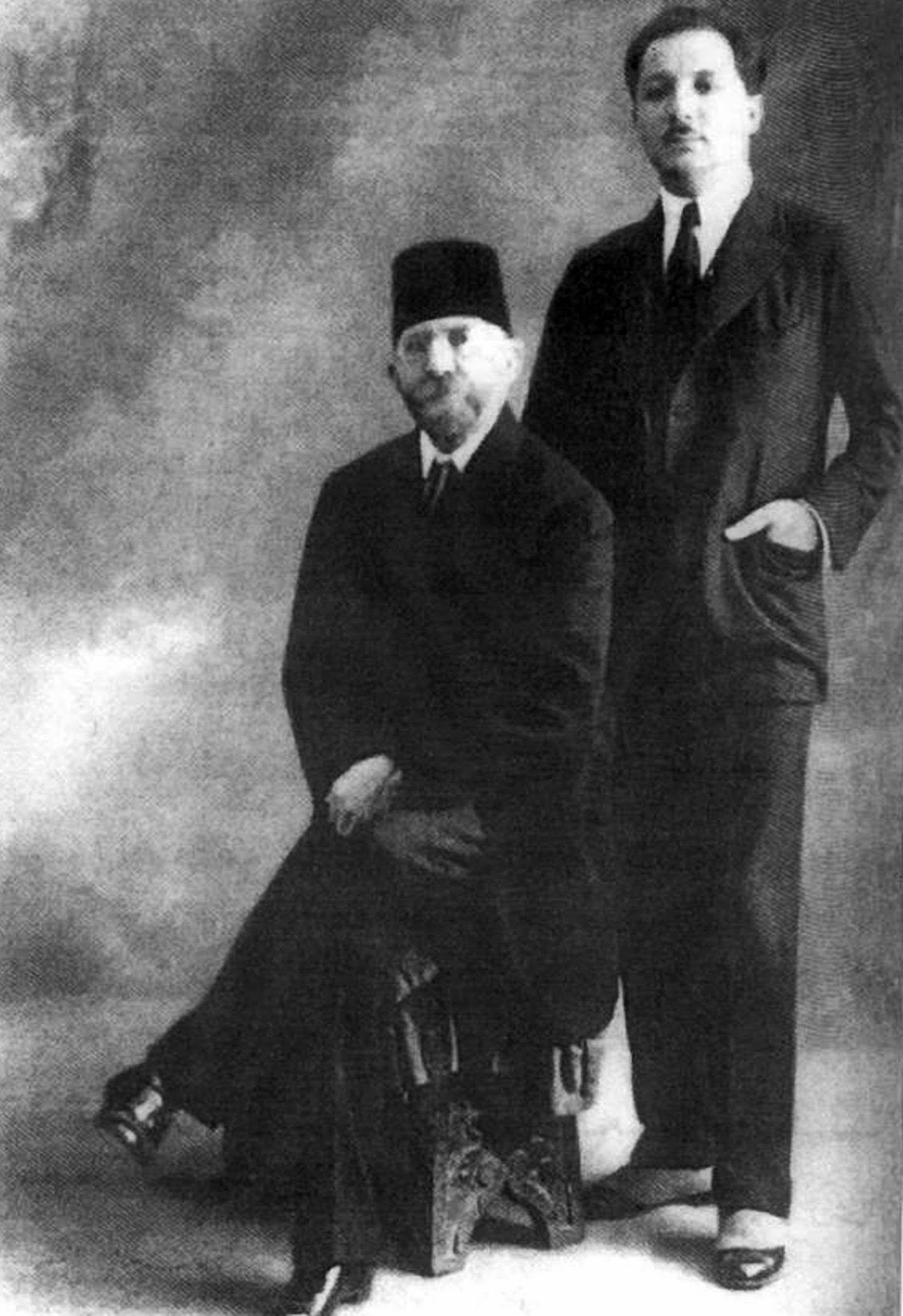 PAAM62 216 Riad al-Solh and his father Reda Al Solh - 1924. Alamy