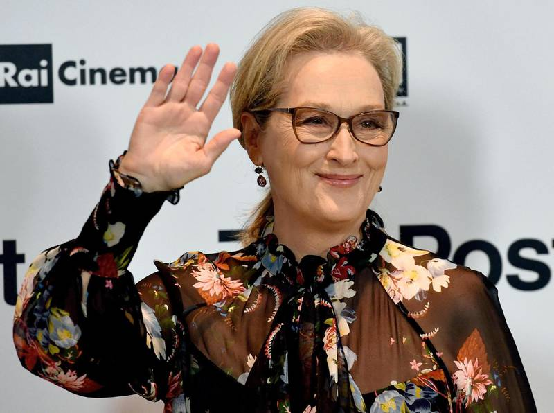 epa06440612 US actress/cast member Meryl Streep poses for photographers during a photocall for 'The Post' in Milan, Italy, 15 January 2018. The movie opens in Italian theaters on 01 February.  EPA/DANIEL DAL ZENNARO