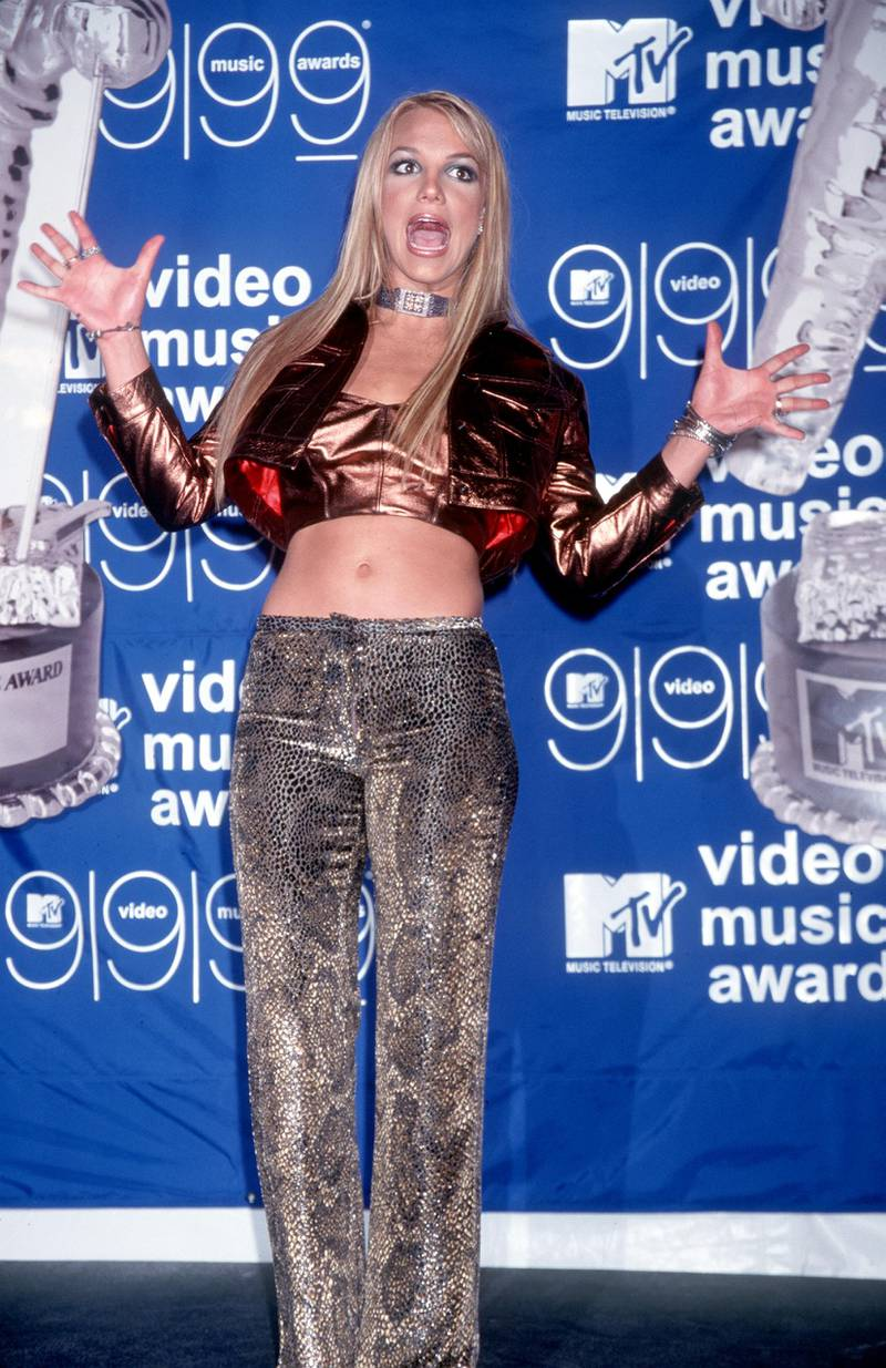 370600 01: Britney Spears at the MTV Video Music Awards in New York, NY. 9/9/99 Photo by Brenda Chase/Online USA, Inc.