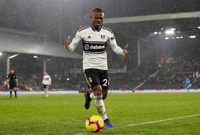 """Soccer Football - Premier League - Fulham v Brighton & Hove Albion - Craven Cottage, London, Britain - January 29, 2019  Fulham's Jean Michael Seri reacts during the match                  REUTERS/David Klein  EDITORIAL USE ONLY. No use with unauthorized audio, video, data, fixture lists, club/league logos or """"live"""" services. Online in-match use limited to 75 images, no video emulation. No use in betting, games or single club/league/player publications.  Please contact your account representative for further details."""