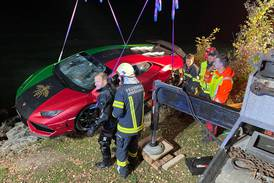 Lamborghini ends up in Austrian lake after driver mixes up brake and accelerator