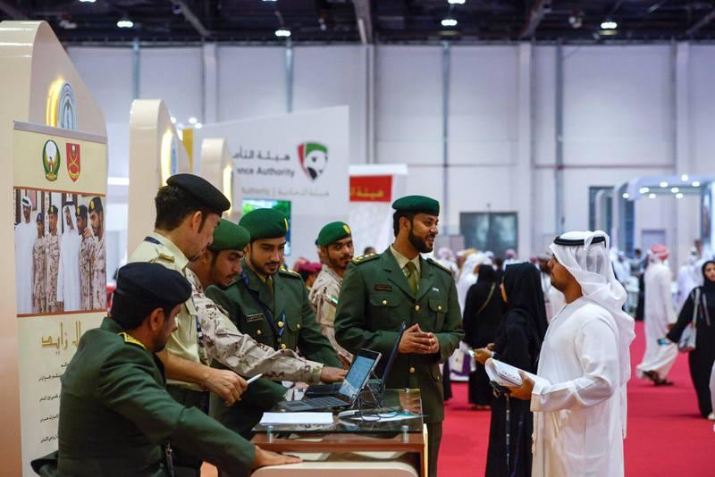 Abu Dhabi, United Arab Emirates - Abu Dhabi Career Fair takes place at the Abu Dhabi National Exhibition Centre on January 29, 2018. (Khushnum Bhandari/ The National)