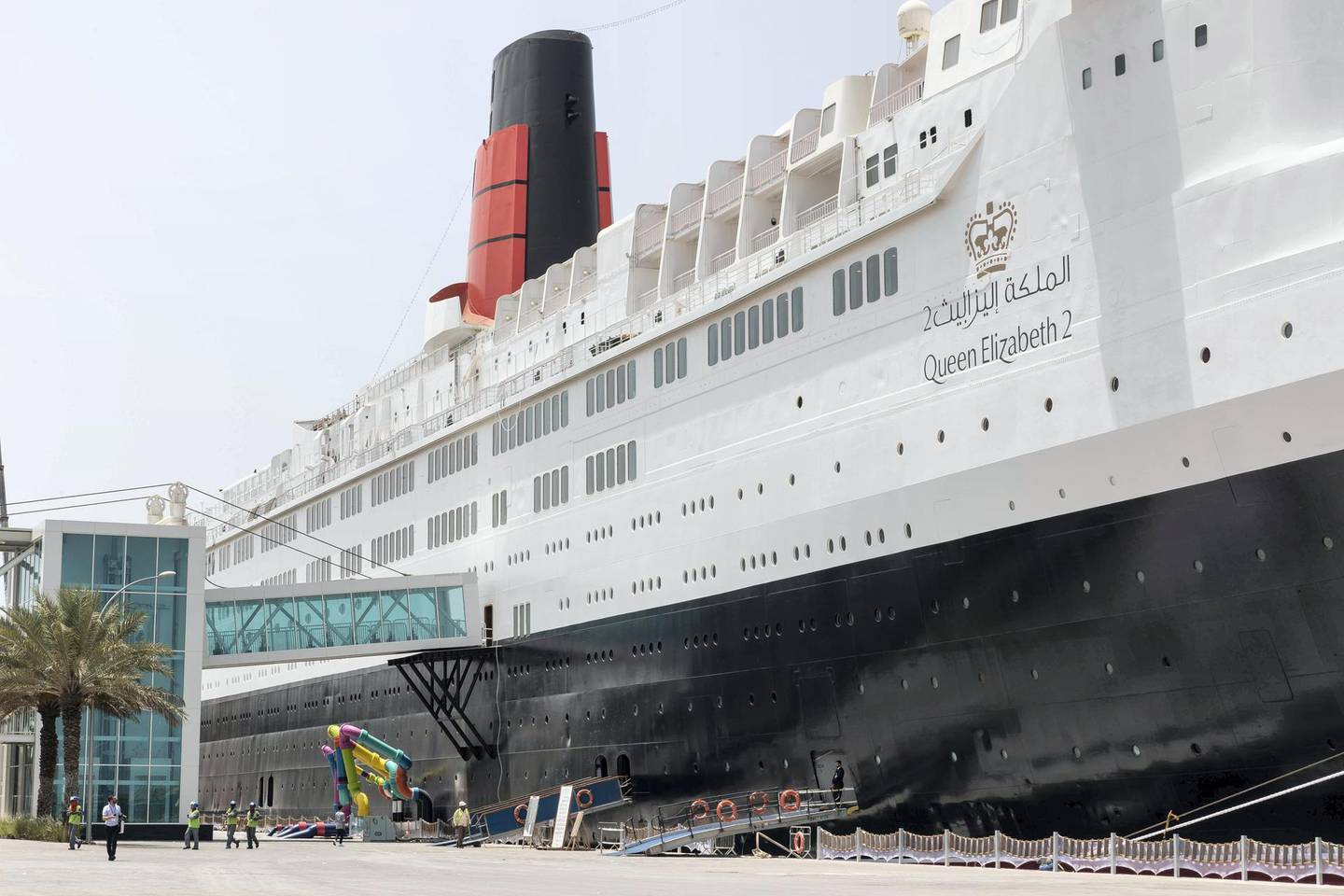 DUBAI, UNITED ARAB EMIRATES. 18 APRIL 2018. Press walk through of the Queen Elizabeth 2 in Port Rashid. The ship has been restored to it's former glory and is now taking guests. (Photo: Antonie Robertson/The National) Journalist: Johan Dennehy. Section: National.