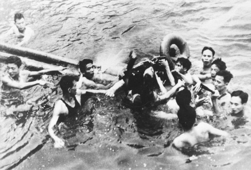 P368426 01: (File Photo) Senator John Mccain Is Pulled Out Of A Hanoi Lake By North Vietnamese Army Soldiers And Civilians October 26, 1967 In Hanoi, North Vietnam. Mccain's A-4E Skyhawk Was Shot Down By A Surface-To-Air Missile. Mccain Broke Both Arms And His Right Knee Upon Ejection And Lost Consciousness Until He Hit The Water.  (Photo By Getty Images)