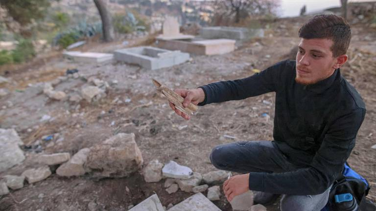 An image that illustrates this article Palestinians fear for loved ones' remains as Israel builds Jerusalem park