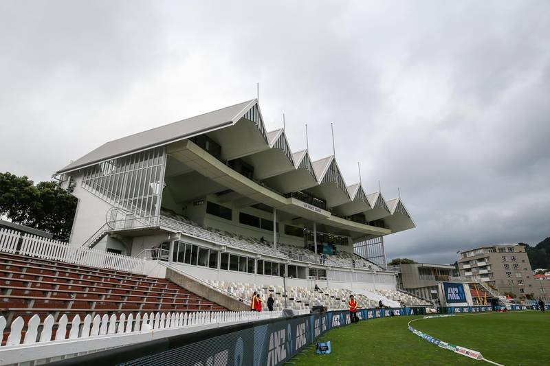 WELLINGTON, NEW ZEALAND - MARCH 12: Clouds hang over the ground prior to play during day five of the second test match in the series between New Zealand and Bangladesh at Basin Reserve on March 12, 2019 in Wellington, New Zealand. (Photo by Hagen Hopkins/Getty Images)