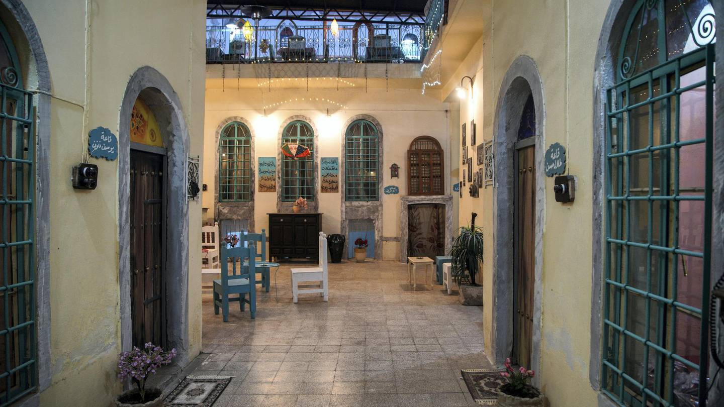Inside Baytna Mosul cultural center headquarters in the old city of Mosul. Haider Husseini/ The National