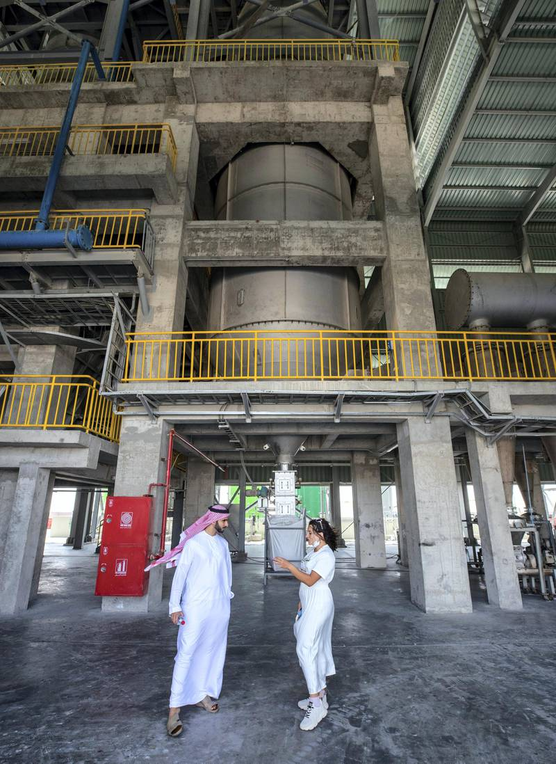 Abu Dhabi, United Arab Emirates, March 29, 2021.   Tadweer's medical incineration site which has been receiving much more waste over the past year due to Covid-19. Victor Besa/The NationalSection:  NAReporter:  Haneen Dajani