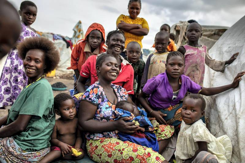 Daily life scene at the ISP camp for internally displaced people in Bunia. Thousands have fled their homes due to intercommunal violence in Ituri.