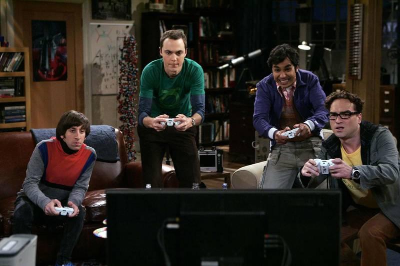 Johnny Galecki, Jim Parsons, Kunal Nayyar & Simon Helberg in season 1, episode 7 of The Big Bang Theory. Cliff Lipson / CBS