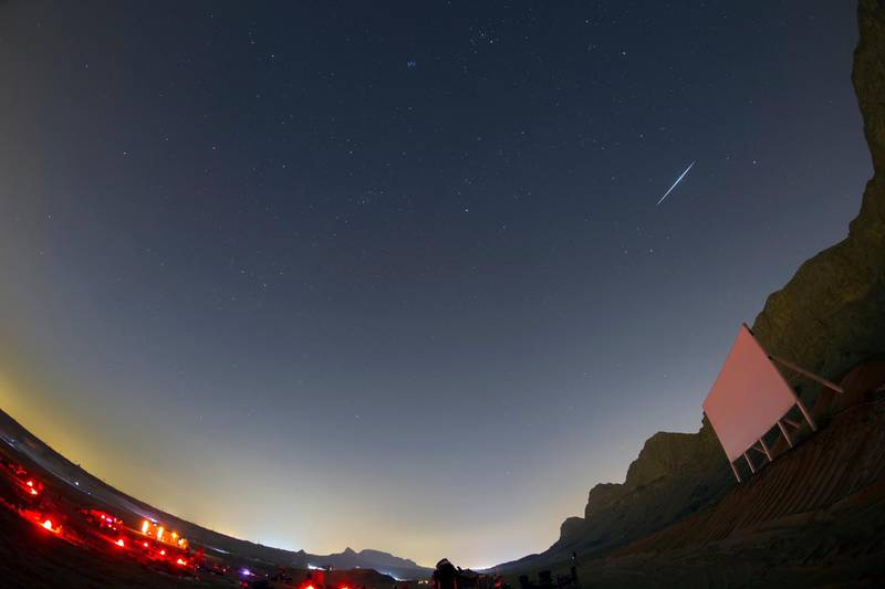 The Geminid meteor shower. Prabhu Astrophotography for The National