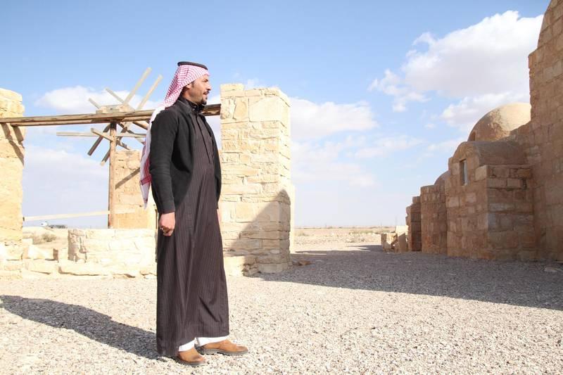 Hakem Al Sabileh, the guard of Jordan's Quseir Amra. Amy McConaghy / The National