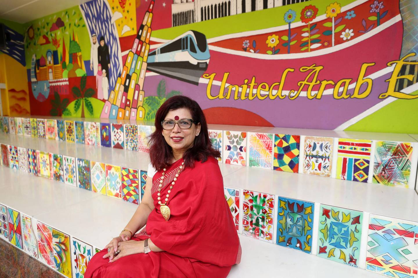 Dubai, United Arab Emirates - February 14, 2019: Rashmi Nandkeolyar, principal at Delhi Private School. Rahhal programme is in its second phase and heads of schools are discussing the challenges it faces. Thursday the 14th of February 2019 at The Gardens, Jebel Ali, Dubai. Chris Whiteoak / The National