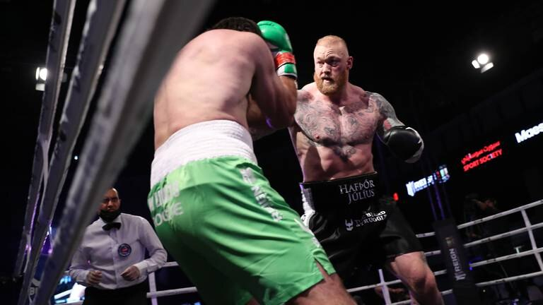 An image that illustrates this article 'Game of Thrones' star Bjornsson dominates in Dubai heavyweight fight