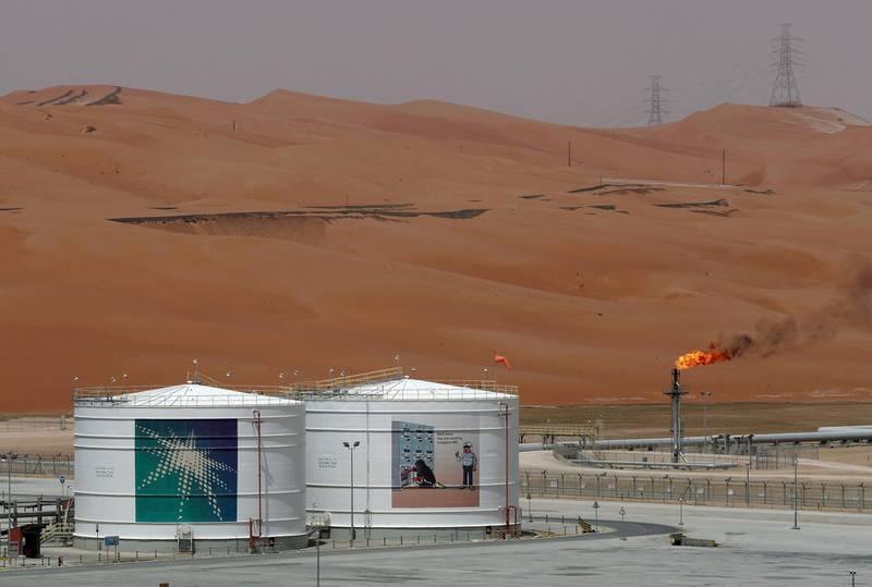 FILE PHOTO: A production facility is seen at Saudi Aramco's Shaybah oilfield in the Empty Quarter, Saudi Arabia, May 22, 2018. REUTERS/Ahmed Jadallah/File Photo