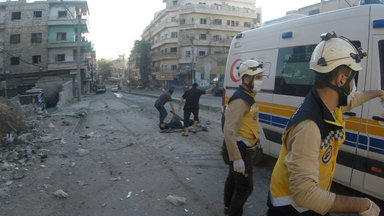 An image that illustrates this article Idlib shelling at school drop-off witnessed by doctors