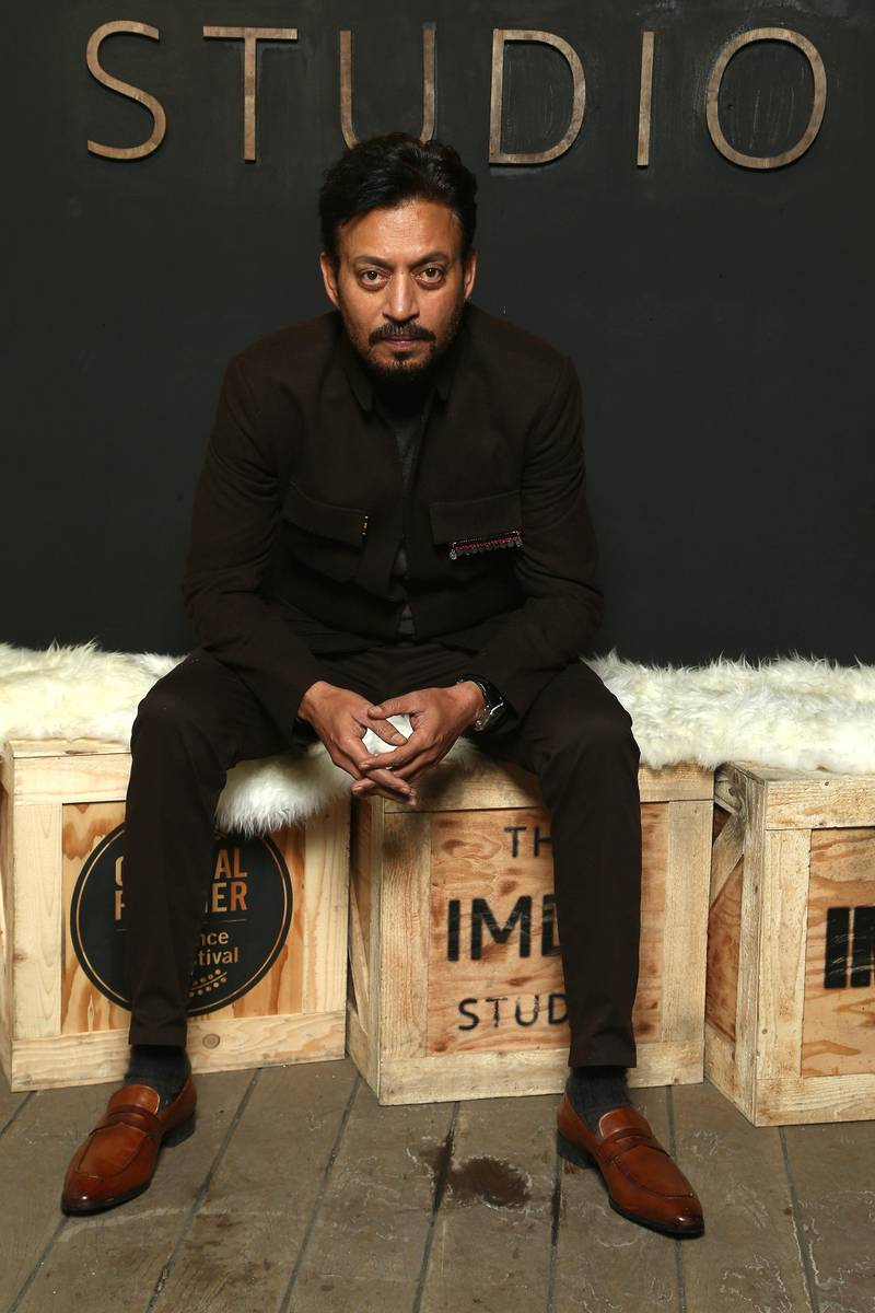 PARK CITY, UT - JANUARY 22: Actor Irrfan Khan of 'Puzzle' attends The IMDb Studio and The IMDb Show on Location at The Sundance Film Festival on January 22, 2018 in Park City, Utah.   Tommaso Boddi/Getty Images for IMDb/AFP