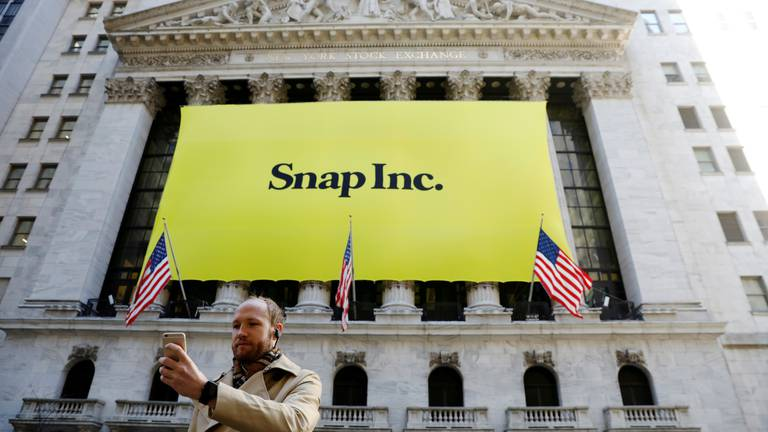 An image that illustrates this article Snap shares drop 22% after company misses sales expectations