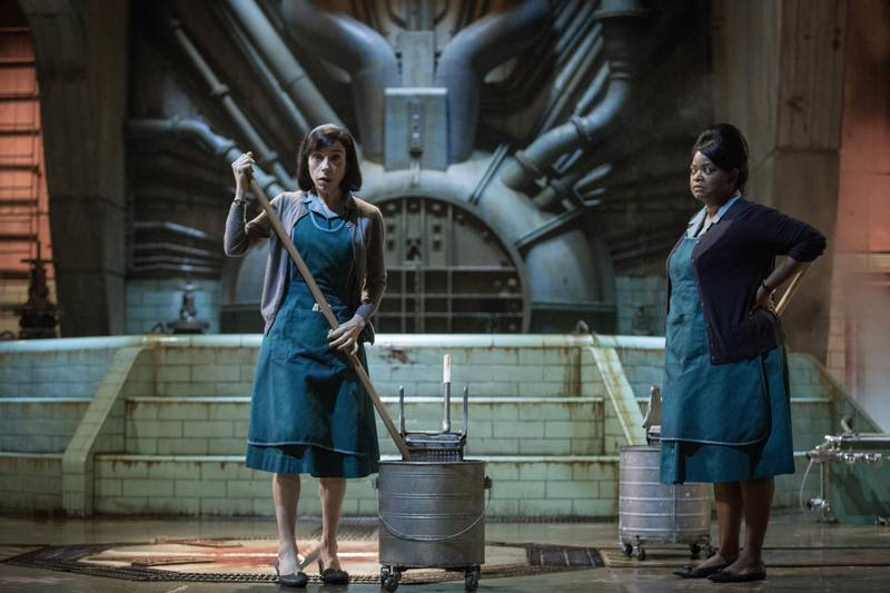 (From L-R) Sally Hawkins and Octavia Spencer on the set of THE SHAPE OF WATER. Kerry Hayes / 20th Century Fox