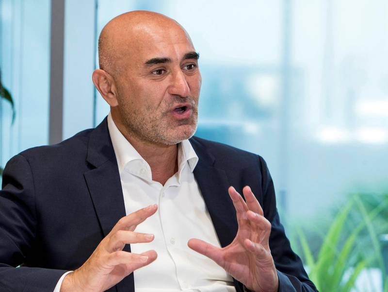 DUBAI, UNITED ARAB EMIRATES - Ronaldo Mouchawar, Amazon MENA Vice President at Amazon office, Dubai Media City.  Ruel Pableo for The National for Nada El Sawy's story