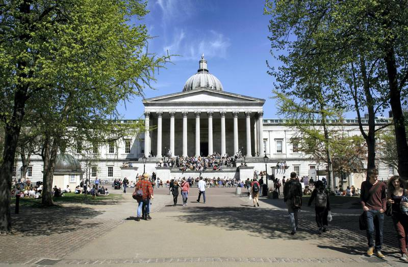 The Main Building of University College London on Gower Street. (Photo by: Loop Images/Universal Images Group via Getty Images)
