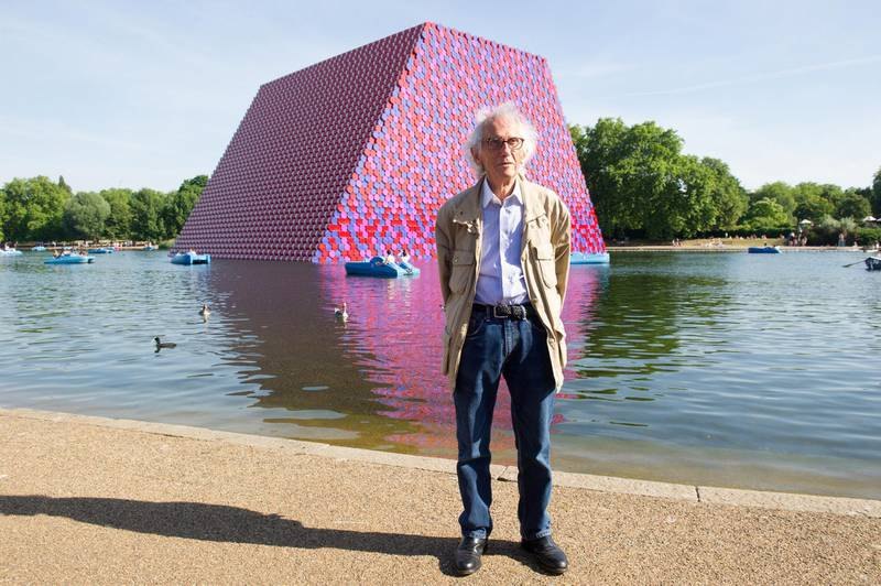LONDON. 24th June 2018 Artist Christo with his new installation at the Serpentine Gallery in London. Gustavo Valiente for the National