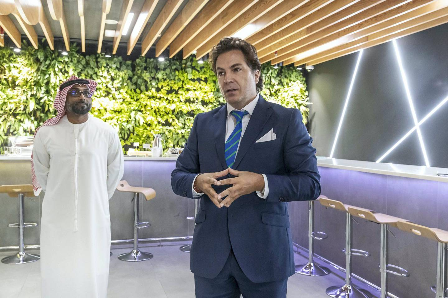 DUBAI, UNITED ARAB EMIRATES. 23 JANUARY 2019. Majid Al Futtain Retail Business School at Ibn Battuta Mall.  Miquel Povedano, COO of Carrefour Operations Excellence explains apsects of the school to the media. (Photo: Antonie Robertson/The National) Journalist: Alice Haine. Section: Business.