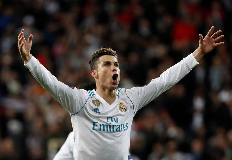 Soccer Football - Champions League Quarter Final Second Leg - Real Madrid vs Juventus - Santiago Bernabeu, Madrid, Spain - April 11, 2018   Real Madrid's Cristiano Ronaldo celebrates after the match              REUTERS/Paul Hanna     TPX IMAGES OF THE DAY