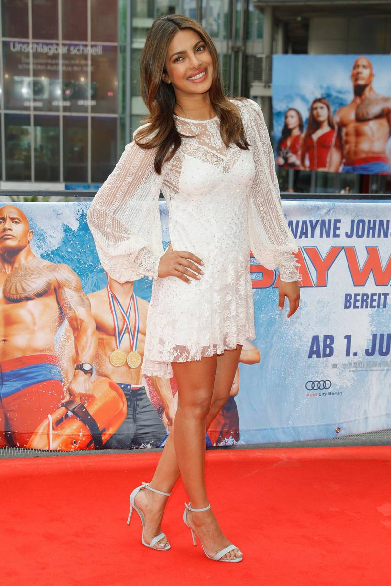 BERLIN, GERMANY - MAY 30:  Priyanka Chopra poses at the 'Baywatch' Photo Call at Sony Centre on May 30, 2017 in Berlin, Germany.  (Photo by Andreas Rentz/Getty Images for Paramount Pictures)