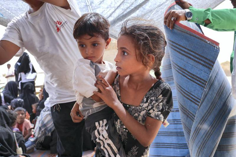 Since the end of March 2019, more than 15,0000 people have been displaced from the north of Hajjah governorate, adding to an existing 100,000 people already displaced. Those who fled their homes are living in very difficult circumstances, lacking essential resources such as food, clean water, and basic sanitation infrastructure.   MSF has begun outreach activities, operating mobile clinics in two different locations to provide consultations, vaccinations, and referral to the MSF-supported hospital in Abs. In addition, the team is providing mental health activities to children and MSF is providing camps with water.