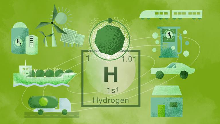 An image that illustrates this article Hydrogen is the Middle East's next black gold