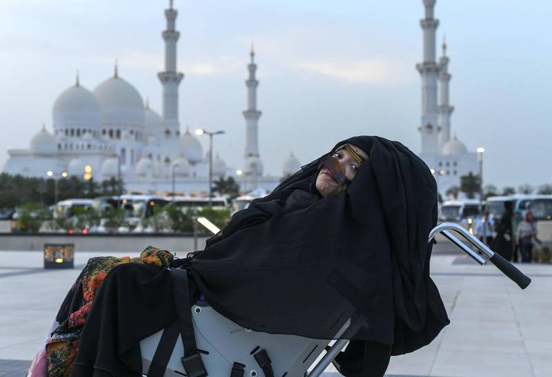 Abu Dhabi, United Arab Emirates - Munira Abdullah awakened from a 27-year-long vegetative state at Sheikh Zayed Grand Mosque. Khushnum Bhandari for The National