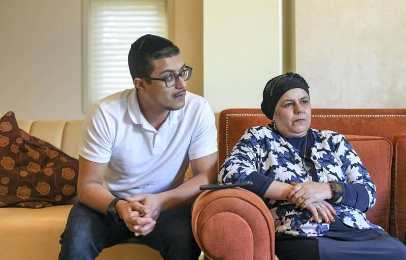 Abu Dhabi, United Arab Emirates - Israel Fayez, 31 and mother Louza Chabib, Yemeni Jewish family in Abu Dhabi. Khushnum Bhandari for The National