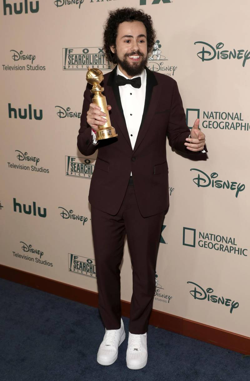 Ramy Youssef arrives at the FX and Disney Golden Globes afterparty at the Beverly Hilton Hotel on Sunday, Jan. 5, 2020, in Beverly Hills, Calif. (Photo by Mark Von Holden/Invision/AP)