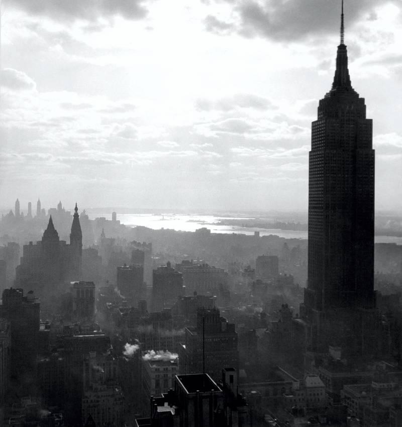 Vue de l'Empire State Building à Manhattan, à New York, aux Etats-Unis. (Photo by Bernhard MOOSBRUGGER/Gamma-Rapho via Getty Images)