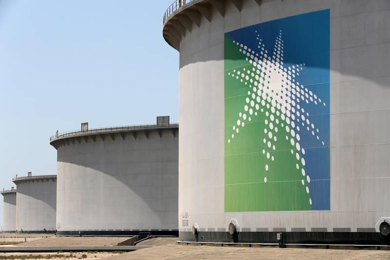 FILE PHOTO: Oil tanks are seen at Saudi Aramco's Ras Tanura oil refinery and oil terminal in Saudi Arabia May 21, 2018. REUTERS/Ahmed Jadallah/File Photo