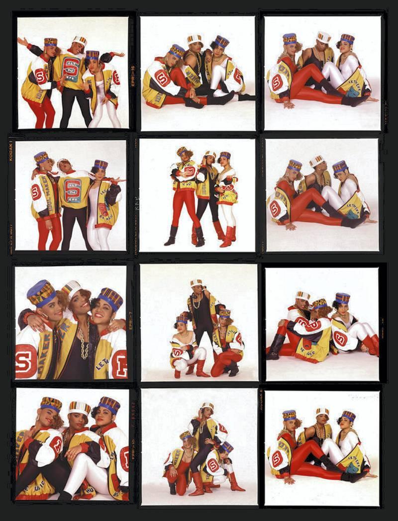 "Janette Beckman - Salt N Pepa- Shake Your Thang  New York City…hey Klein Gallery"". A Visual History of Hip-Hop exhibition in Manarat Saadiyat. photo: Nermine Kashef"