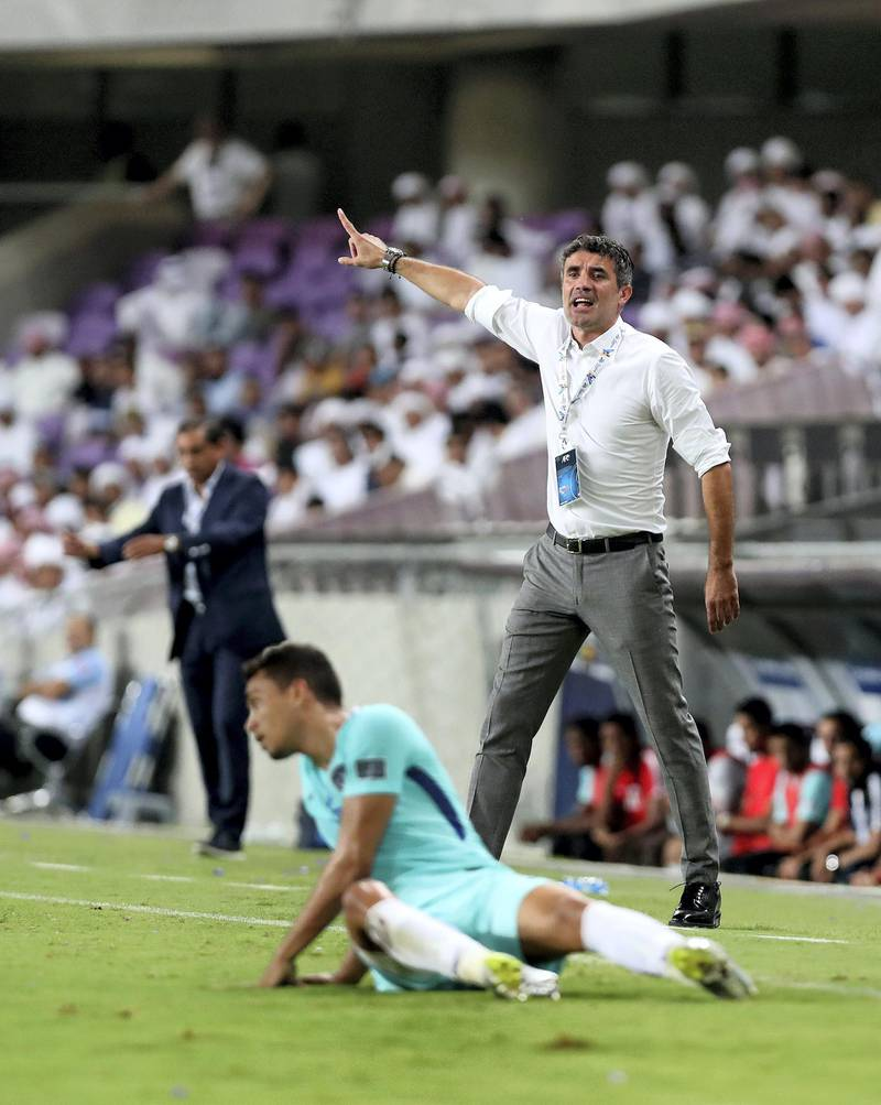Al Ain, United Arab Emirates - August 21st, 2017: Al Ain manager Zoran Mamić during the Asian Champions League game between Al Ain v Al Hilal. Monday, August 21st, 2017 at Hazza Bin Zayed Stadium, Al Ain. Chris Whiteoak / The National