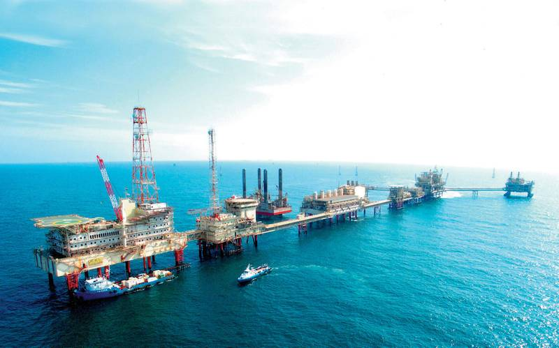 ( EDITOR'S NOTE: Please make the caption as generic as possible, i.e. An ADNOC Oil Facility off the coast of Abu Dhabi..)   ADNOC FACILITIESZAKUM WEST SUPER COMPLEX ADMACOURTESY ADNOC