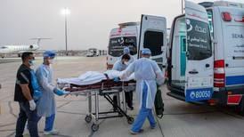 Flight arrives in Abu Dhabi carrying Lebanon's Akkar explosion victims