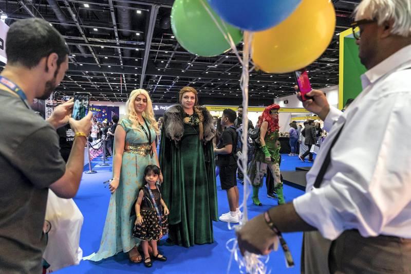 DUBAI, UNITED ARAB EMIRATES. 13 APRIL 2019. MEFCC 2019 at the Dubai World Trade Center. General view of Comic Con held in Dubai. (Photo: Antonie Robertson/The National) Journalist: Chris Newbold. Section: National.