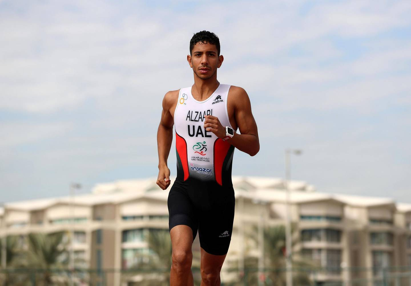 Abu Dhabi, United Arab Emirates - Reporter: Amith Passela: Faris Al Zaabi is the first and only Emirati professional triathlete, and the first to take part in the ITU World Grand Finale in Switzerland last year. The interview is about his preparation and schedule for 2020. Monday, December 23rd, 2019. Zayed Sports City, Abu Dhabi. Chris Whiteoak / The National
