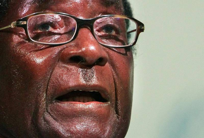 COPENHAGEN, DENMARK - DECEMBER 16:  President Robert Mugabe of Zimbabwe speaks to delegates at the UN Climate Change Conference on December 16, 2009 in Copenhagen, Denmark. As politicians, world leaders and environmentalists meet to try and reach agreement on how to combat climate change, protestors have battled with police outside the conference and Danish environment minister Connie Hedegaard resigned as summit president.  (Photo by Peter Macdiarmid/Getty Images)