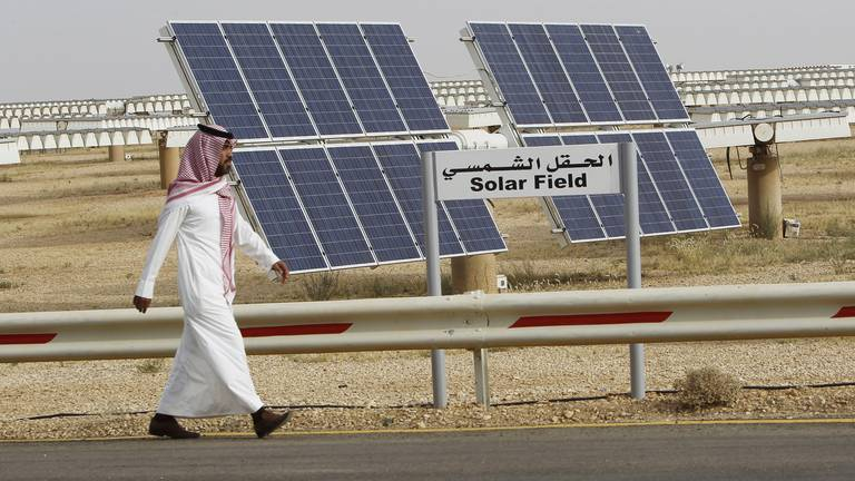 An image that illustrates this article Saudi Arabia to channel 50% of investments into renewable energy, PIF governor says