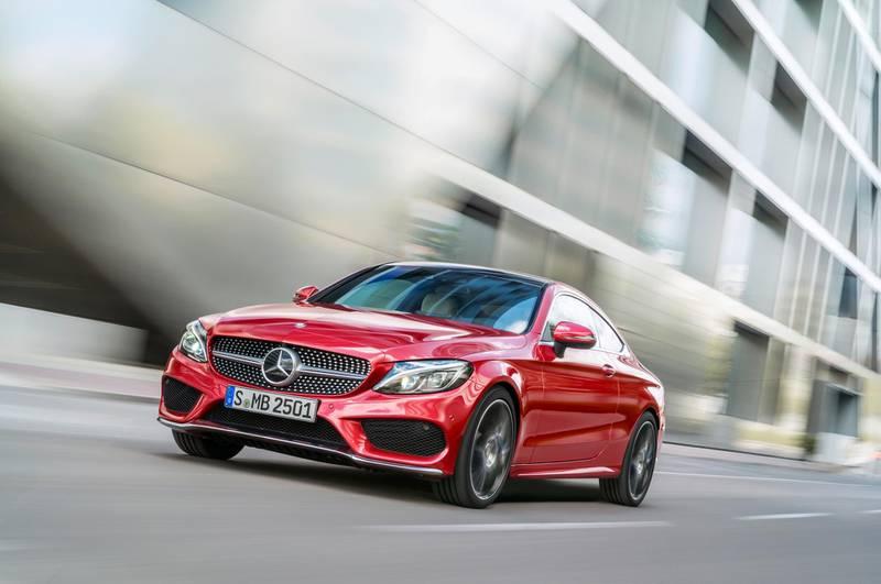Mercedes-Benz C-Klasse Coupé C 250 d 4MATIC, hyacinthrot, Leder Porzellan/schwarz  Mercedes-Benz C-Class Coupé C 250 d 4MATIC, hyacinth red, leather porcellain/black *** Local Caption ***  wk13ja-cargraphic-c-class.jpg