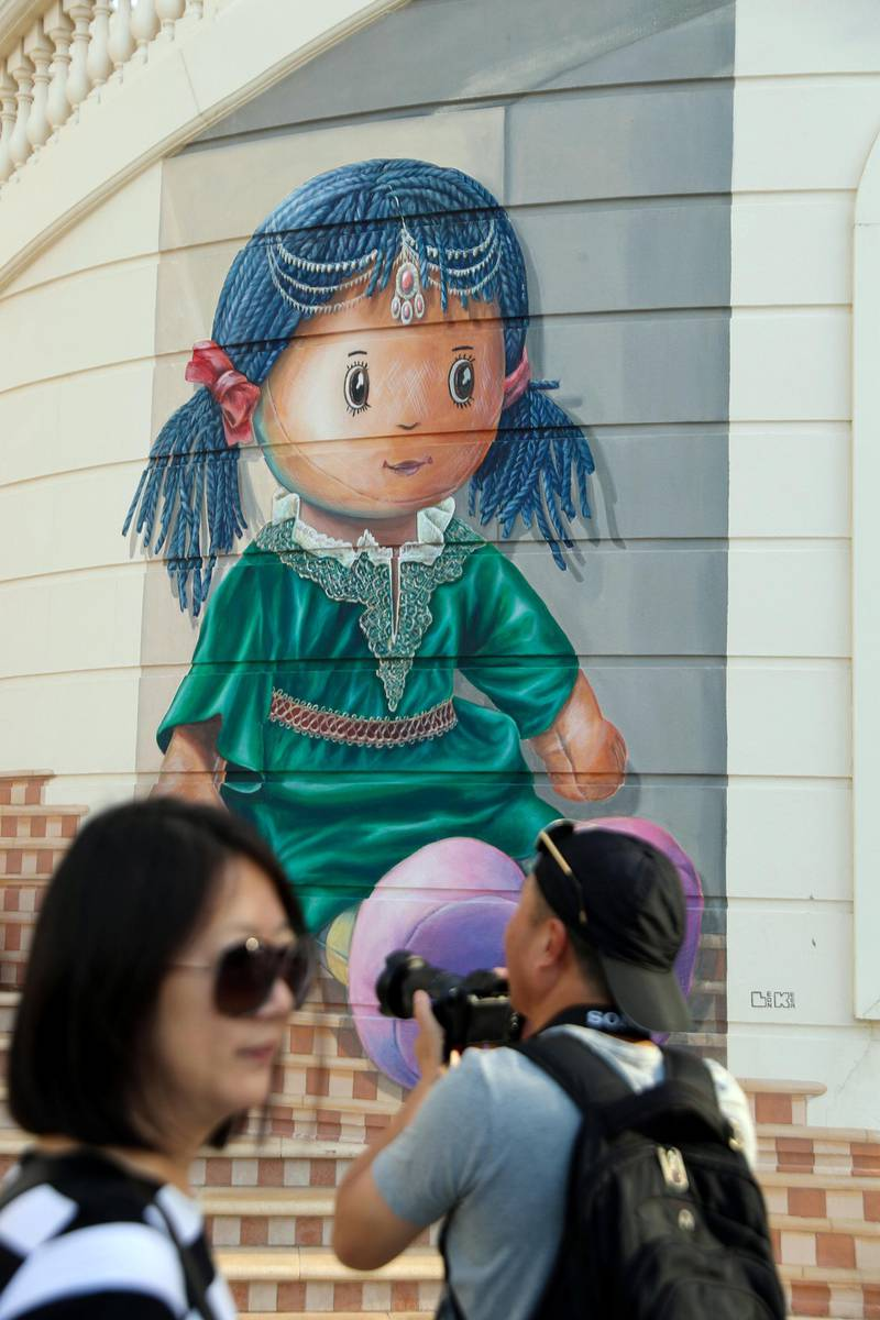 Dubai, United Arab Emirates - Reporter: N/A: Photo project. Street art and graffiti from around the UAE. Monday, January 27th, 2020. JBR, Dubai. Chris Whiteoak / The National
