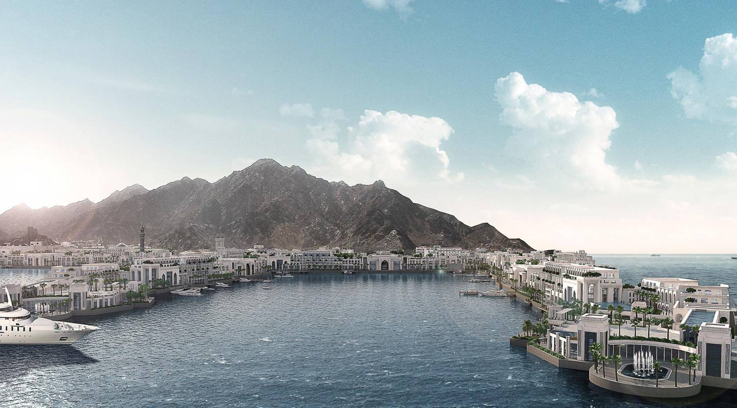 Muscat, Oman – 21st June 2017: DAMAC International has been chosen by the Government of Oman to develop its Port Sultan Qaboos into a world-class, waterfront mix use destination through a joint venture with Omran, the government's investment, growth and development arm. 'Mina Sultan Qaboos Waterfront' is being redeveloped into a USD1 billion integrated tourist port and lifestyle destination that includes hotels, residences, as well as a dining, retail and leisure offering. Courtesy Damac *** Local Caption ***  bz22ju-Mina-Sultan-Qaboos.jpg