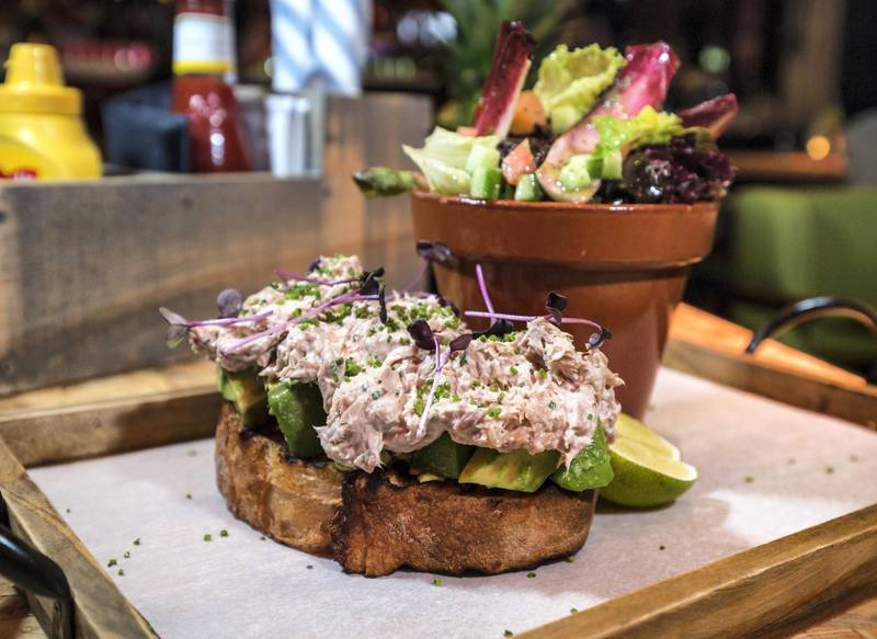 DUBAI, UNITED ARAB EMIRATES - A tuna and avocado serve inside the restaurant at a  preview of new entertainment complex, Warehouse at Atlantis The Palm Dubai.  Leslie Pableo for The National for Katy Gillett's story