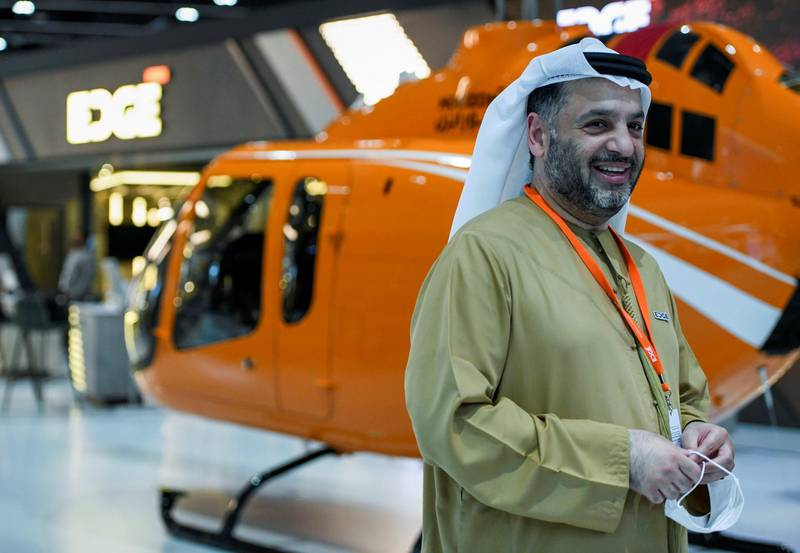 FILE PHOTO: Faisal Al Bannai, EDGE chief Executive is seen during an interview with Reuters in the International Defence Exhibition, Abu Dhabi, United Arab Emirates February 22, 2021. REUTERS/Khushnum Bhandari/File Photo