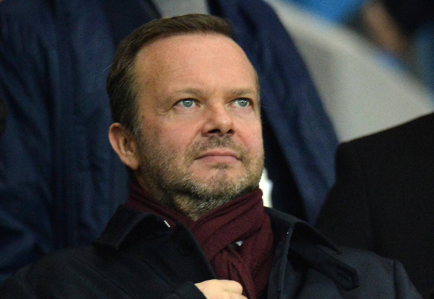 epa09148316 (FILE) - Executive vice-chairman of Manchester United Ed Woodward during the Carabao Cup semi final second leg match between Manchester City and Manchester United in Manchester, Britain, 29 January 2020 (reissued 20 April 2021). Manchester United announced on 20 April 2021 that Woodward will step down from his role at the end of 2021.  EPA/PETER POWELL *** Local Caption *** 55832279